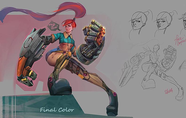 Digital Painting - Character Design 4- Sản phẩm học viên