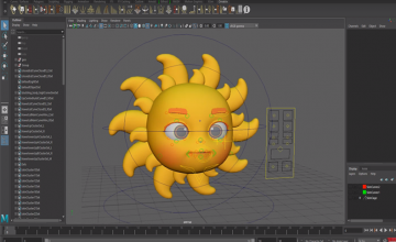 Tạo hình Ông Mặt Trời Cartoon
